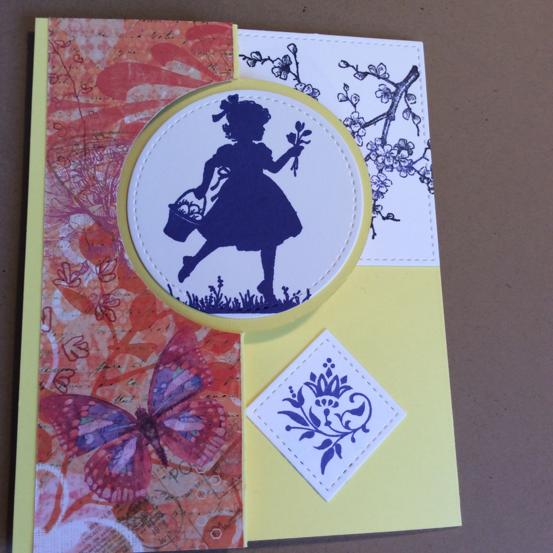 Stampin' Up! Easter Blossoms flip-it card