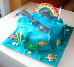 delfíni , Zvířatka dorty | Dorty od mamy