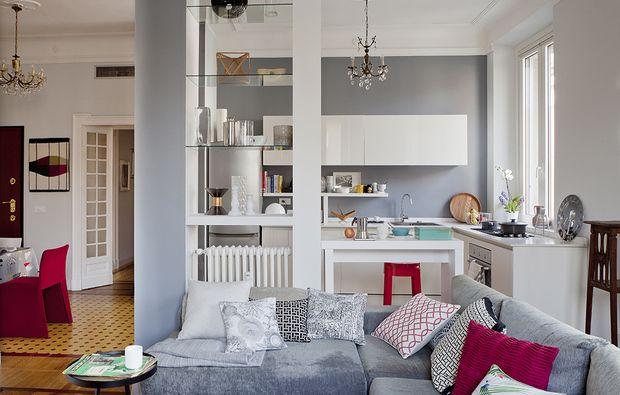 Open Space Come Dividere Cucina E Soggiorno Vistas Dormitorios