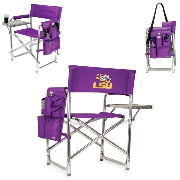 Lsu Tigers Sports Chair Purple Tailgate Chairs Folding Chair