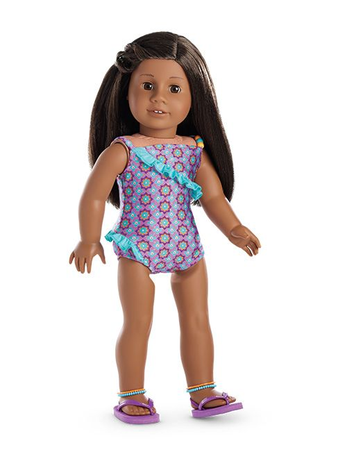 Boho Beachy Swimsuit | American girl | Pinterest