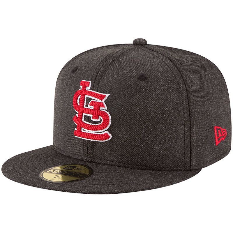 7ae39015068 St. Louis Cardinals New Era Crisp 59FIFTY Fitted Hat - Heathered Black