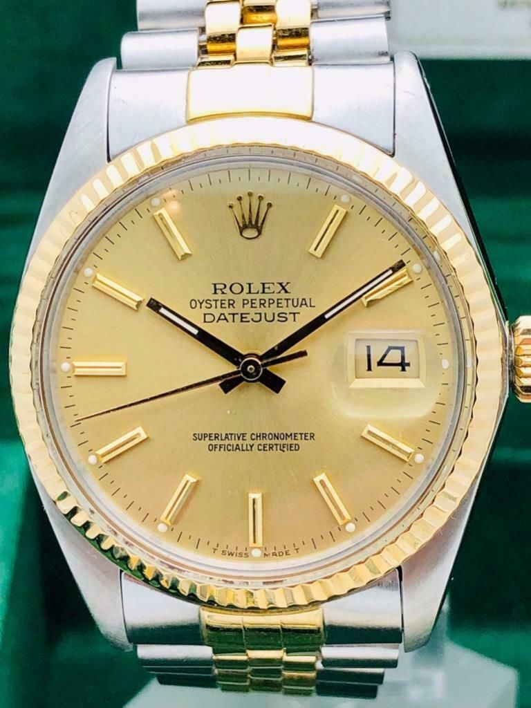 c88c0385a77b9 #FORSALE Estate~ Rolex Datejust 18k Gold Stainless Steel Quickset 36mm Mens  Watch BeAuTY Price:$2175 - Used Rolex - Rolex for Sale