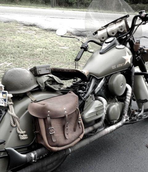 Tribute Bike1997 Kawasaki Vulcan That Has Been Modified To Look Like An Old WWIi Bike