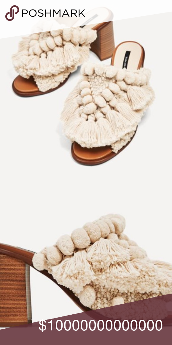 ISO Zara PomPom Mules Sandals | Mule