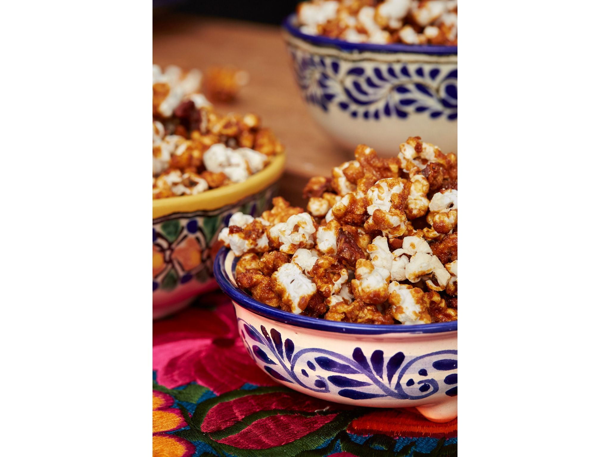 Chipotle-Pecan Candied Popcorn recipe from Marcela Valladolid via Food Network