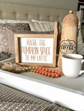 You're the Pumpkin Spice to my Latte saying. Coffee love. Fall decor. Thanksgiving decor. Farmhouse wood sign - LastStepPin #pumpkinspicecupcakes