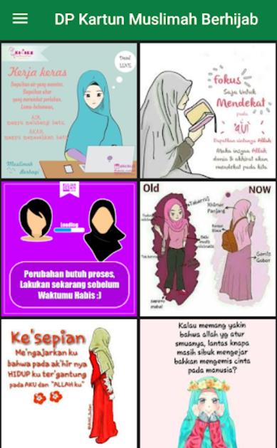 21 Gambar Kartun 4 Sahabat Berhijab About Dp Kartun