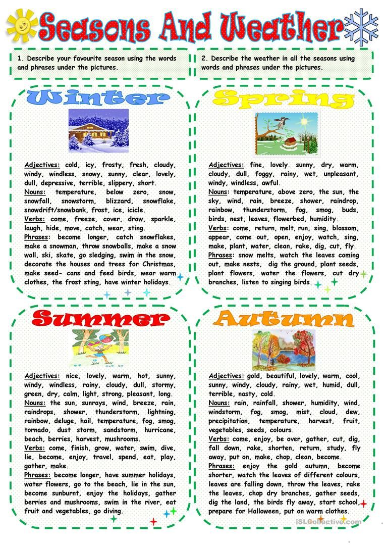seasons and weather worksheet free esl printable worksheets made by teachers education. Black Bedroom Furniture Sets. Home Design Ideas