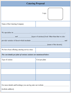 Catering Proposal  Catering Template    Catering