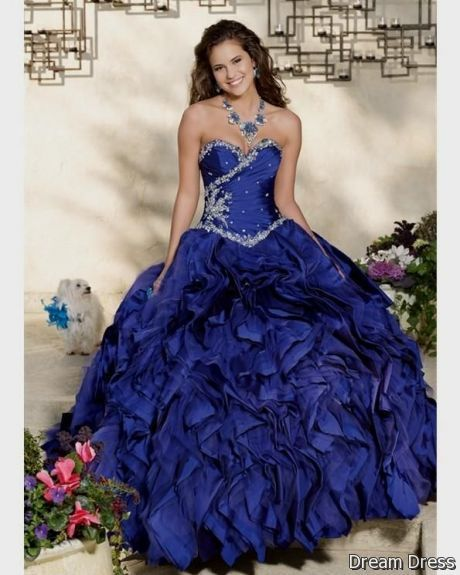 Long dress royal blue 5x7