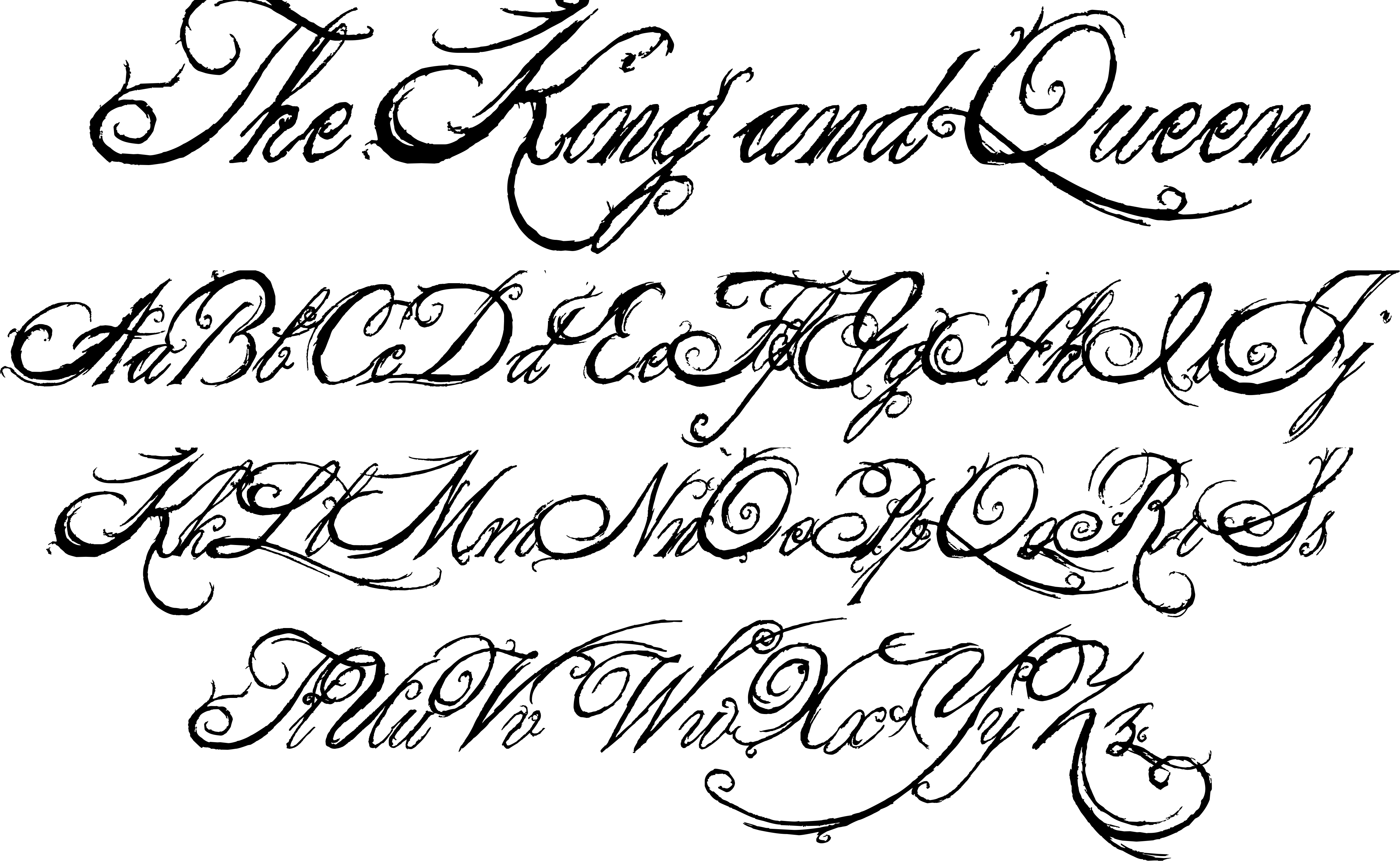 King And Queen Font By Weknow: The King And Queen