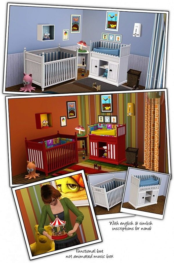 Coastal Nursery by Sandy for Sims 3 Sims 3 rooms, Sims 3