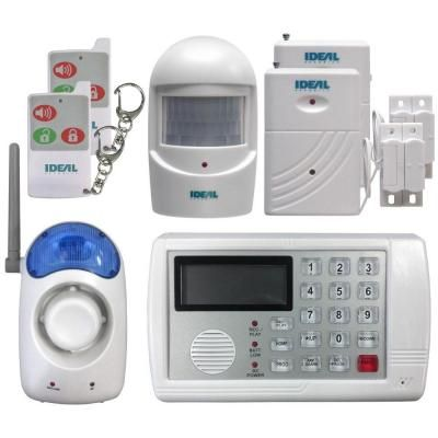 Ideal Security 7 Piece Wireless Home Security Alarm System With Telephone Notification Dialer Sk634 The Home Depot Wireless Home Security Systems Home Security Tips Home Security Alarm