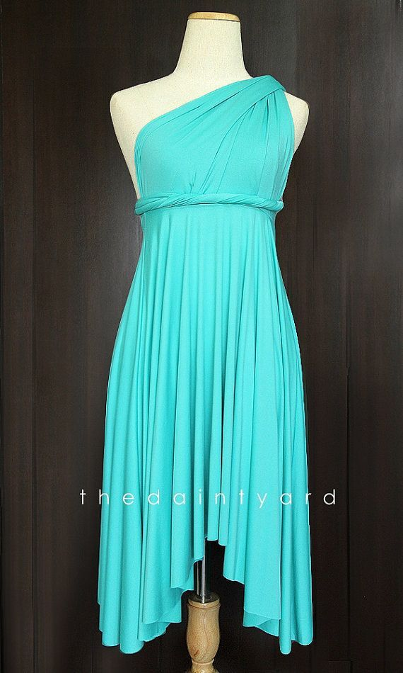 Turquoise Convertible Turquoise Bridesmaid Convertible Dress Infinity By Thedaintyard Turquoise Bridesmaid Turquoise Bridesmaid Dresses Casual Wedding Dress