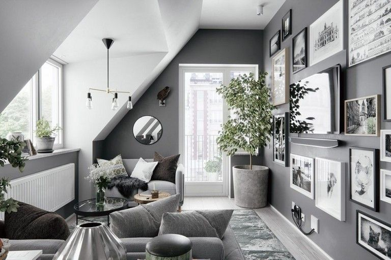 30 Luxury Attic Apartments That Use Grey As Base Living