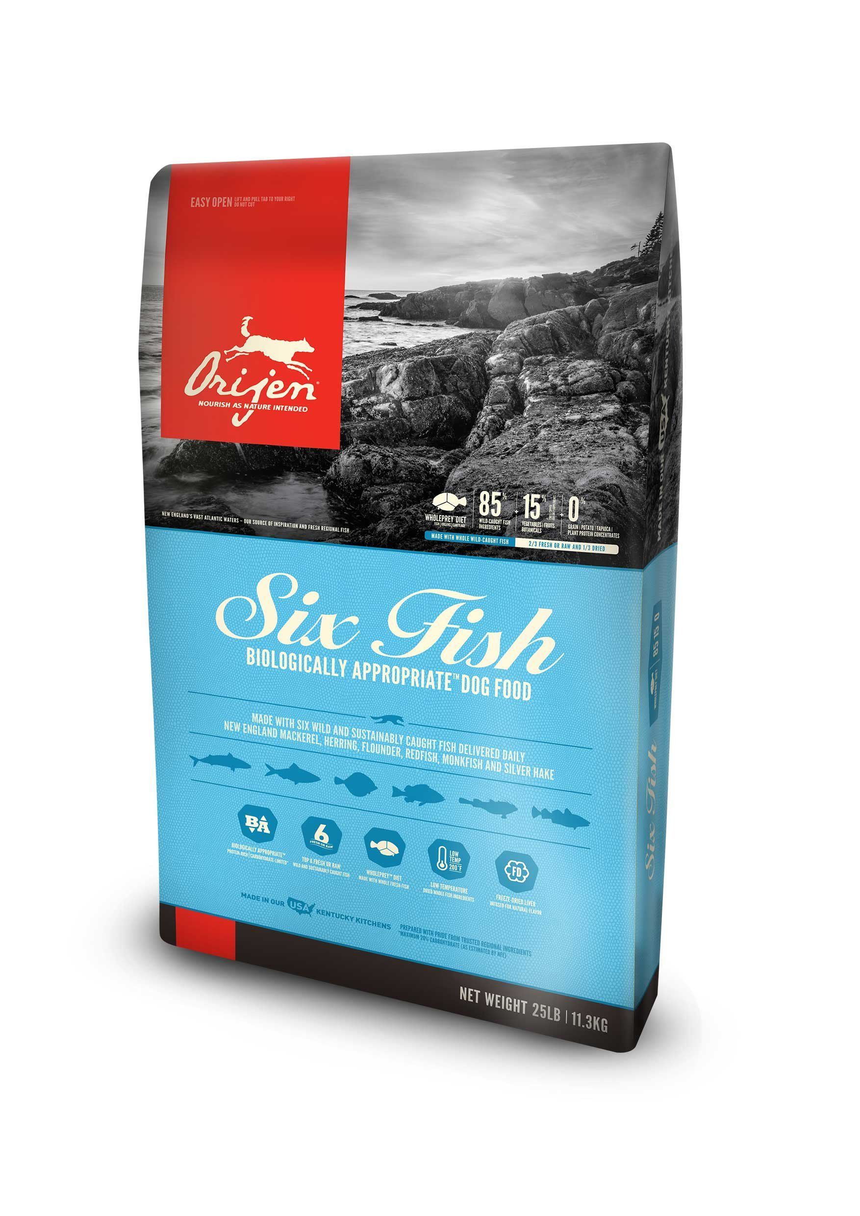 OrijenDog Food Six Fish Dry cat food, Dry dog food