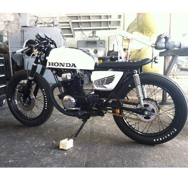 Black And White Honda Cafe Racer