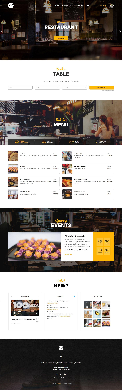Joomla Restaurant Template  Resca  Template Restaurant Themes