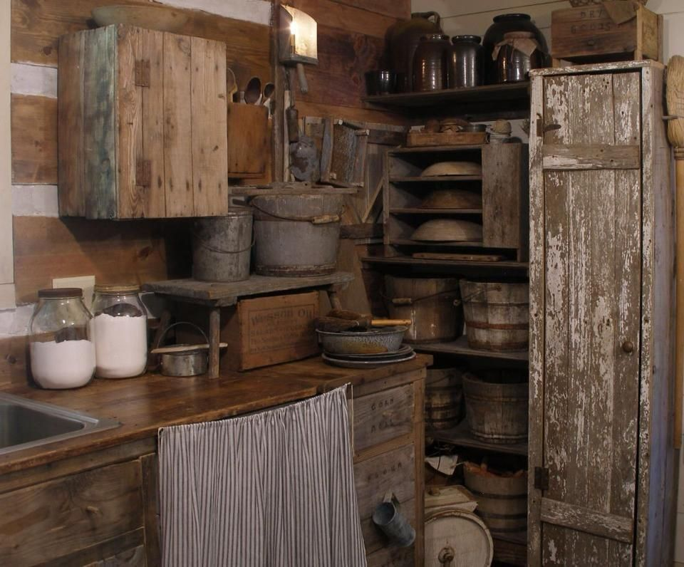 Lovely Primitive Kitchen 4 Cabin Kitchens 960