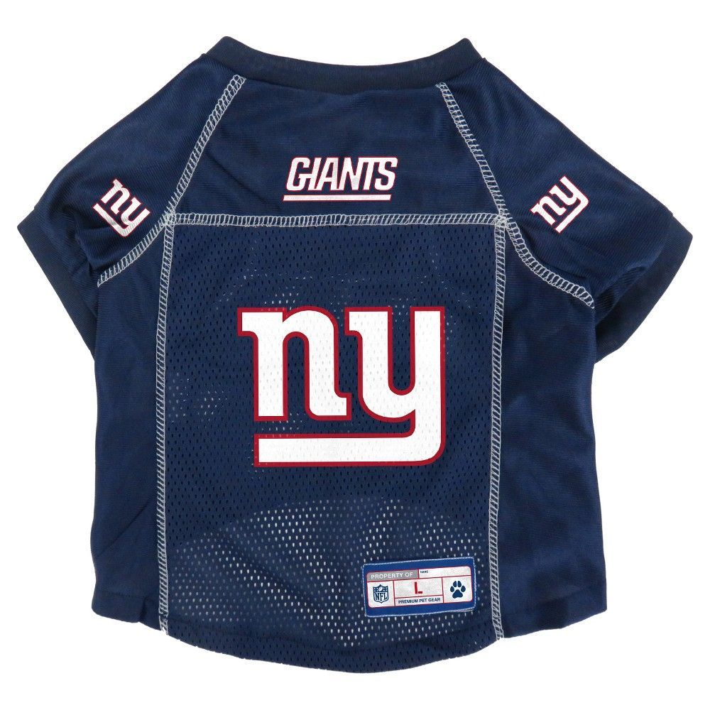 timeless design f7519 94990 New York Giants Little Earth Pet Football Jersey - Blue M ...
