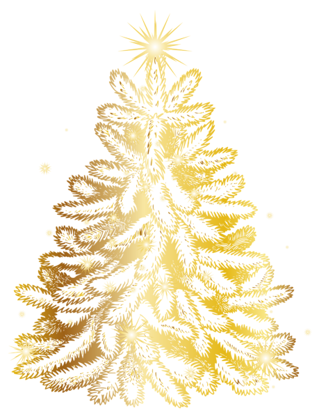 Christmas Gold Tree Transparent Png Clip Art Image Christmas Tree Clipart Gold Christmas Art Images