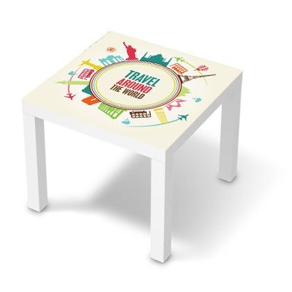 Stickers Pour Table Basse Lack 55x55 Travel Around The World Diy