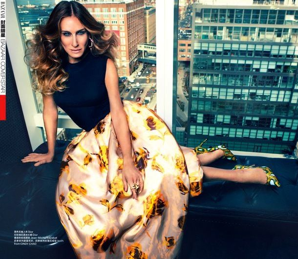 Sarah Jessica Parker cover Harpers Bazaar China March