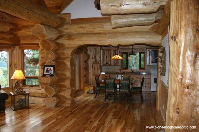 Courtesy Of Pioneer Log Homes Of B C Log Homes Log Home Interior Log Home Kitchens