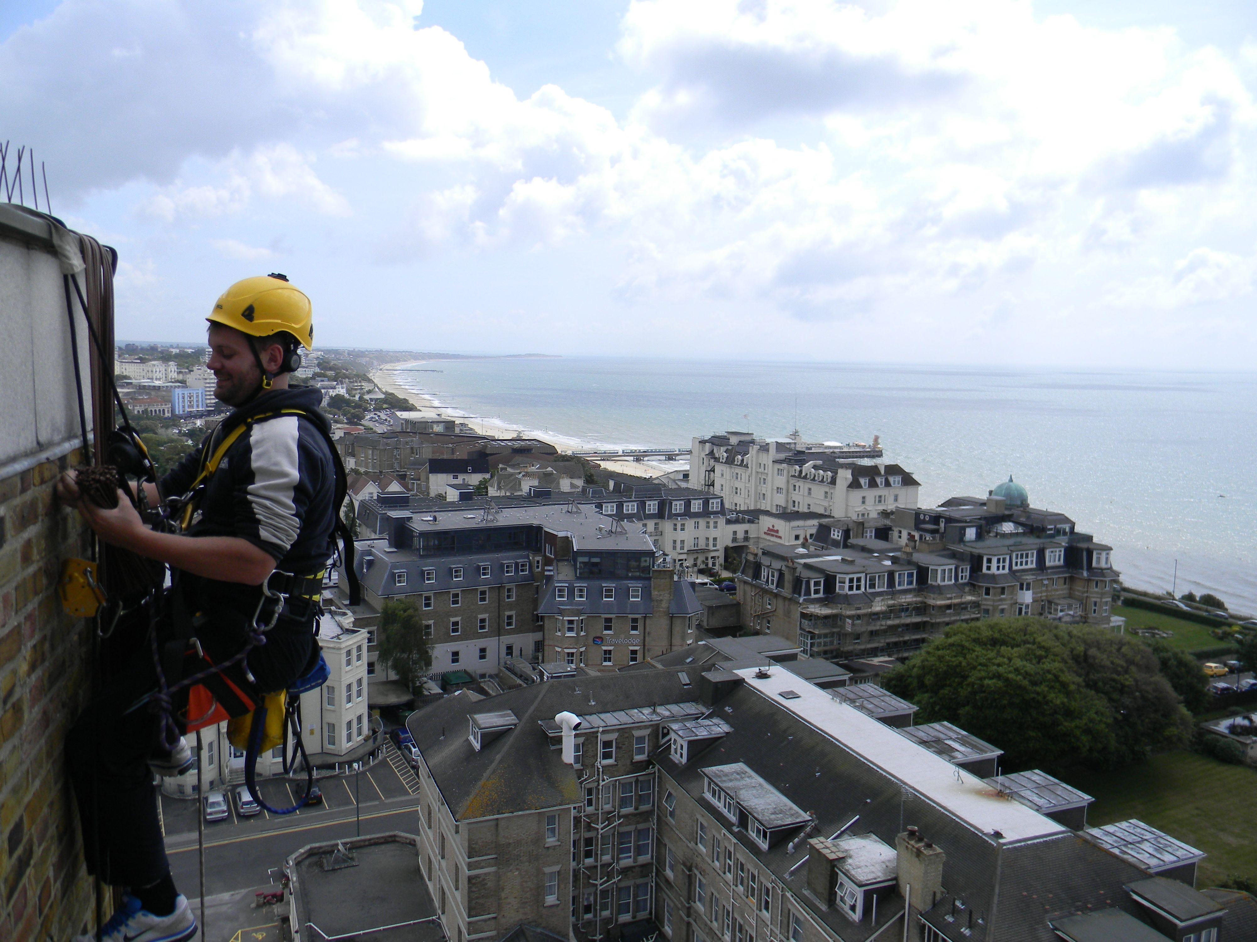 Cable installations in Bournemouth; 14 floors up!