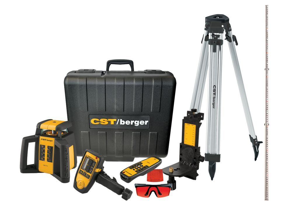 2000 Ft Self Leveling Horizontal Vertical Rotary Laser Level Kit 6 Piece Rotary Concrete Forms Electrical Installation