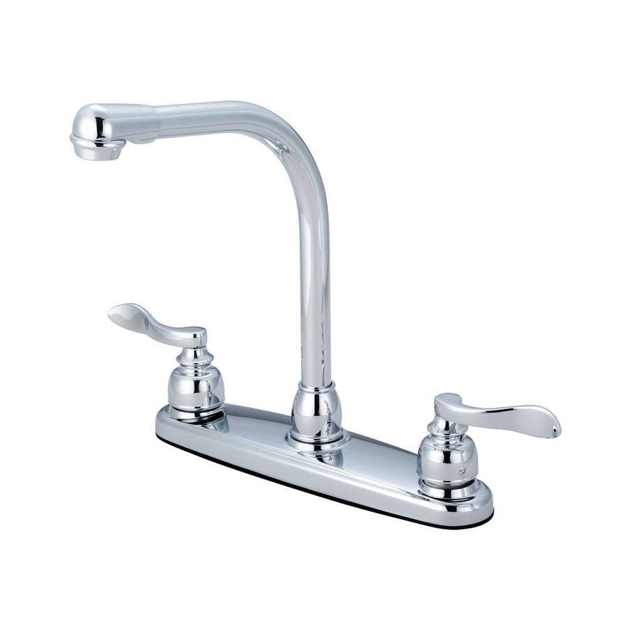 Elements Of Design Nuwave French Polished Chrome 2 Handle Deck Mount High Arc Handle Kitchen In 2021 High Arc Kitchen Faucet Kitchen Faucet Kitchen Faucet With Sprayer