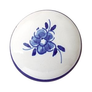 Pomo de caj/ón Jay Knopf Juego de 6 pomos de cer/ámica para muebles Tiradores de caj/ón de porcelana pintada a mano de color rojo de 144 2012