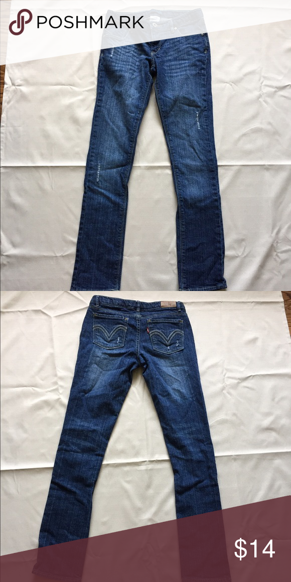 Girls Levi skinny jeans Girls Levi jeans, size 14, excellent Condition, I will not hold or trade, I do not model, smoke free home, bundle and save 🛍 Fast shipper! 📦📬 Levi's Bottoms Jeans
