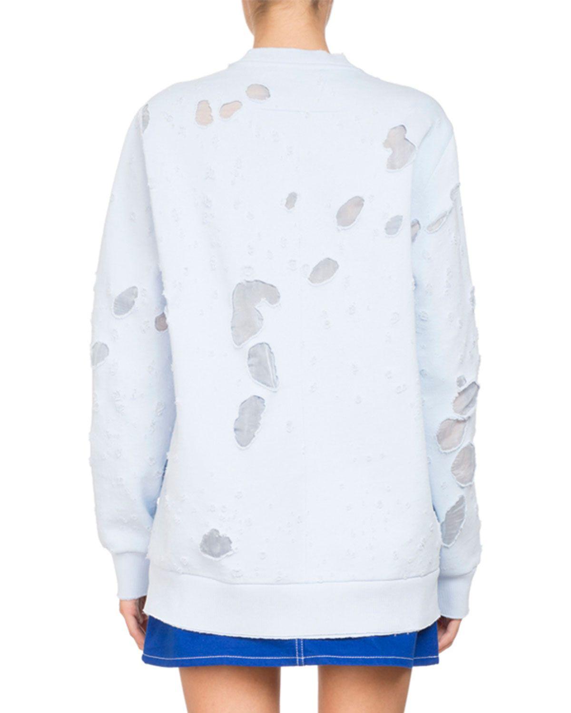 Givenchy Destroyed Logo Pullover Sweatshirt Sweatshirts