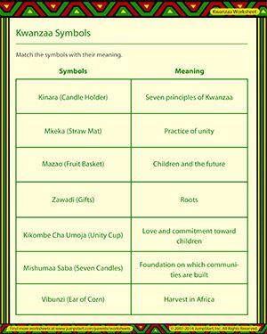 Kwanzaa Symbols - Free Kwanzaa Worksheet for Kids | Kwanzaa ...