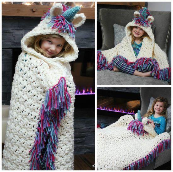 Unicorn Crochet Hat Scarf Pattern   Kinder   Pinterest   Croché ...