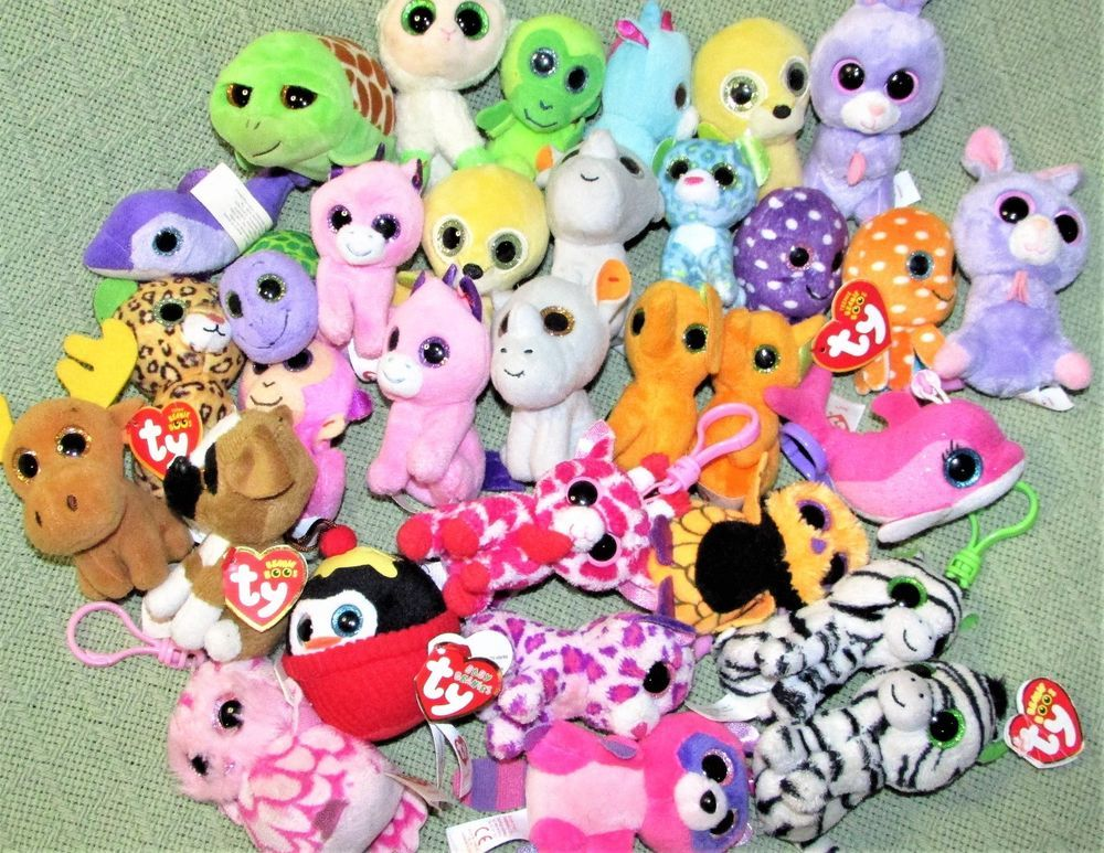 05d7f490ead 30 Ty BEANIE BOOS McDonalds Clip Ons Plush Some Heart Tags UNICORN Monkey  Rabbit  Ty