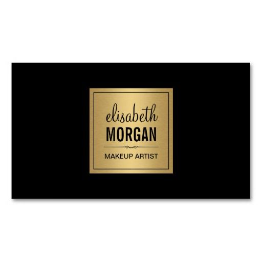 Elegant Luxe Black and Gold Design Double-Sided Standard Business Cards (Pack Of 100)