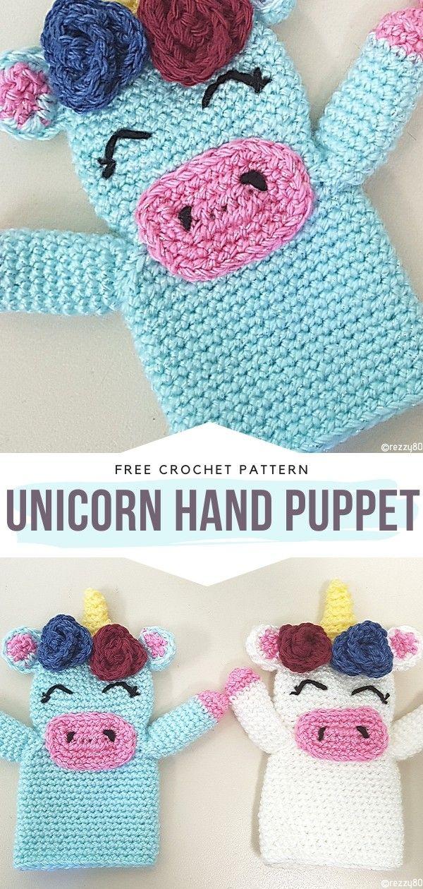 How to Crochet Unicorn Hand Puppet