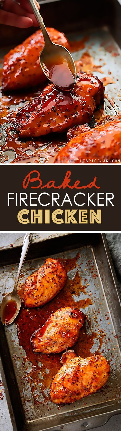 Baked Firecracker Chicken Recipe Little Spice Jar Recipe Recipes Spicy Recipes Chicken Recipes