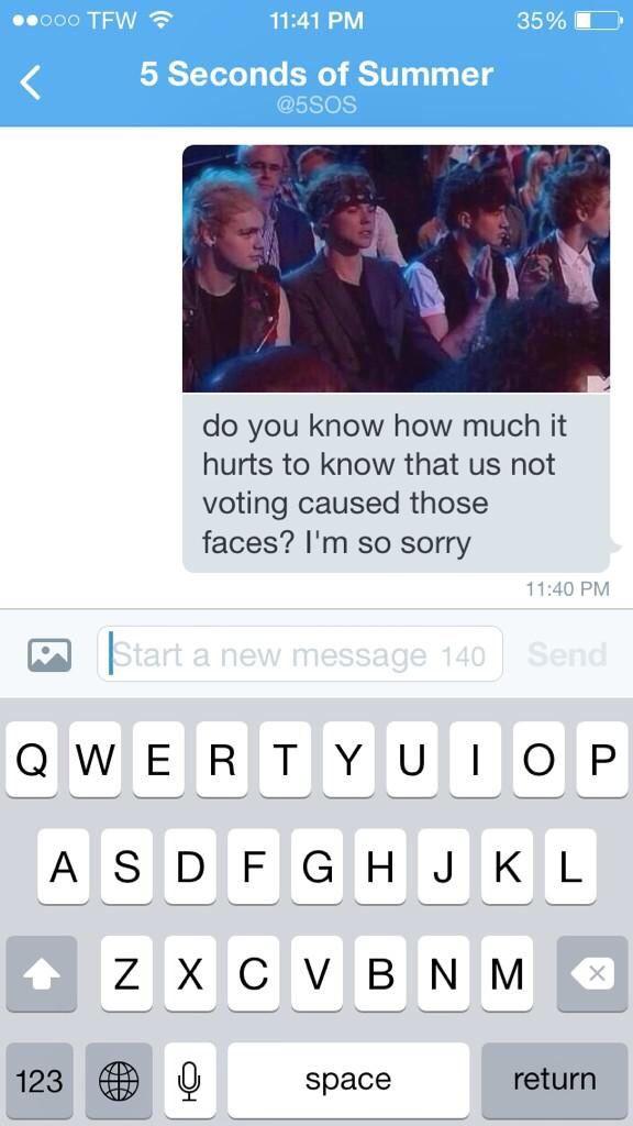 I really am sorry boys
