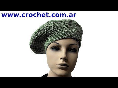 Boina clásica para Mujer en Tejido Crochet (Ganchillo)  fc9b38de144