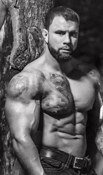 muscle tattooed man
