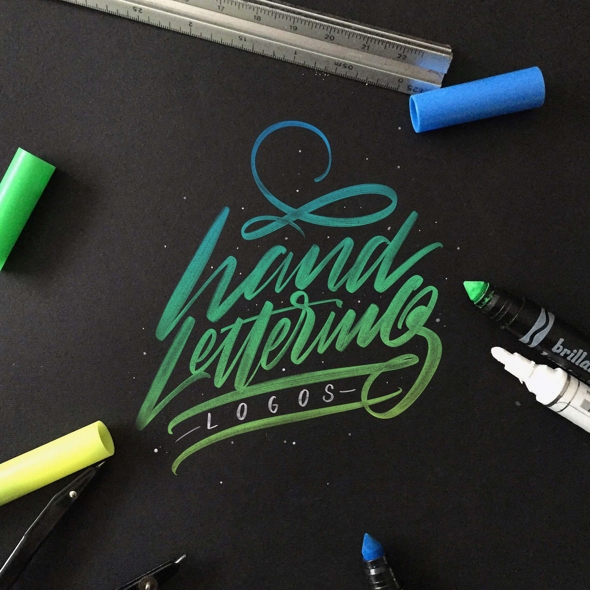 """Check out this @Behance project: """"Lettering & Calligraphy Logos 