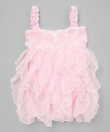 Look what I found on #zulily! Pink Rosette Dress - Infant #zulilyfinds