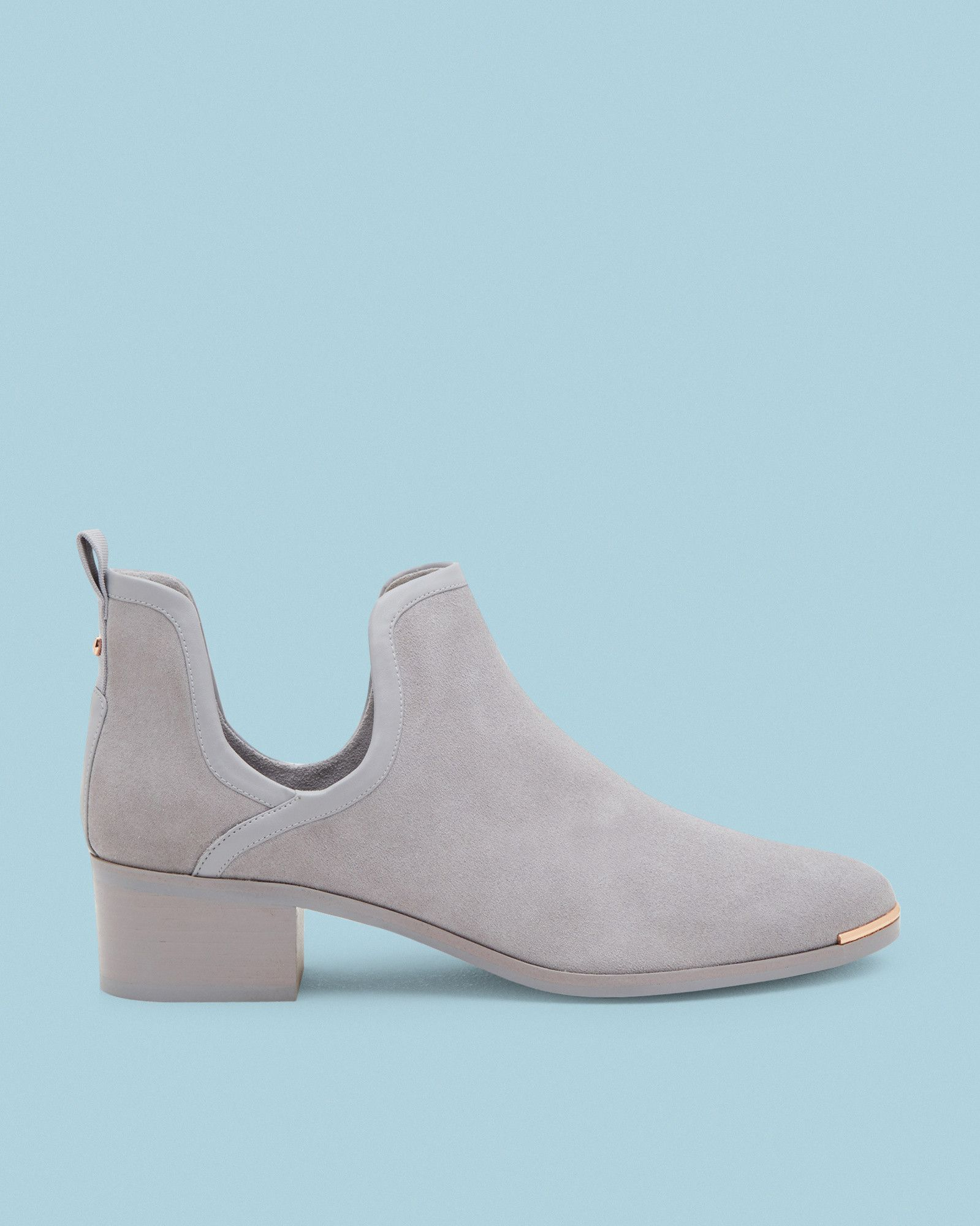 afcb239e912f Ted Baker Cut-out suede ankle boots Light Grey. TWILLO Cut-out suede ankle  boots  TedToToe