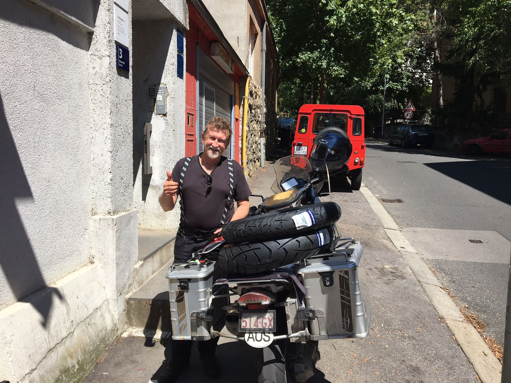 On A Bike No One Ever Asks Are We There Yet Lobagolabnb Zagreb Center Croatia Advrider Bike Rider Motorcycle Bike Cycli Bike Overlanding Bicycle