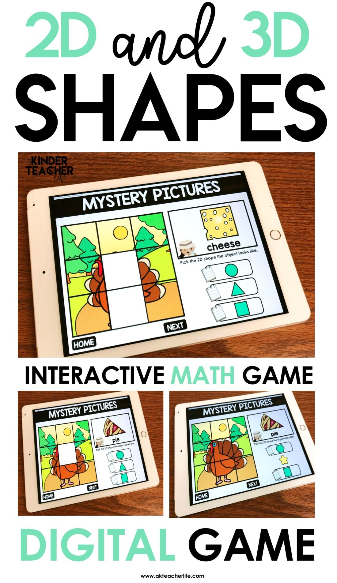 2d And 3d Shapes Game