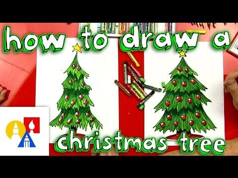How To Draw A Christmas Tree Art For Kids Hub Christmas Tree Drawing Christmas Tree Art Art For Kids Hub